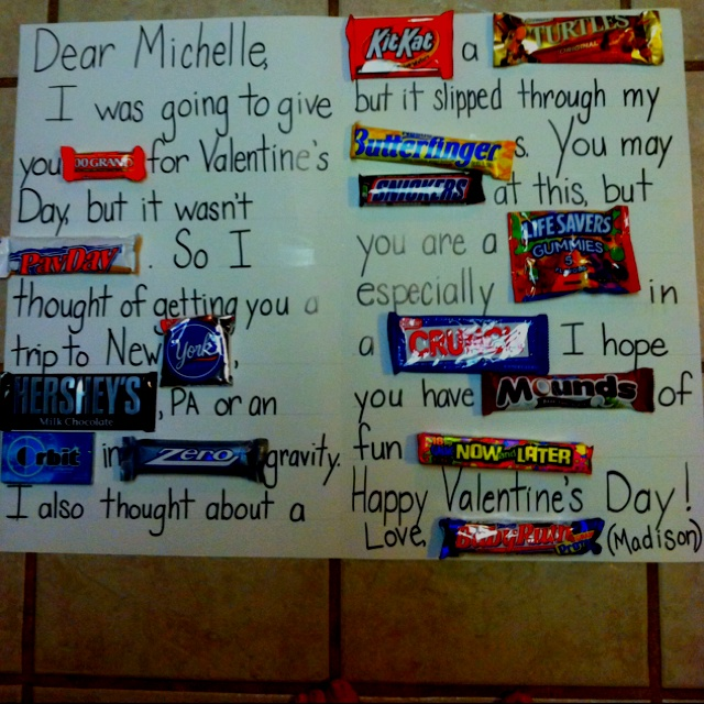 I made this for Valentine's Day from my daughter, but you could do it for any occasion!