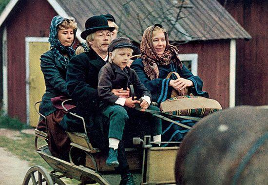 Emil i Lønneberga med mor, far og tjenestfolk