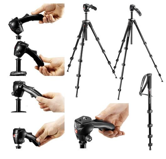 Surprisingly flexible and lightweight for a cheap tripod, good for stills or video - manfrotto 785b   www.listen4life.com