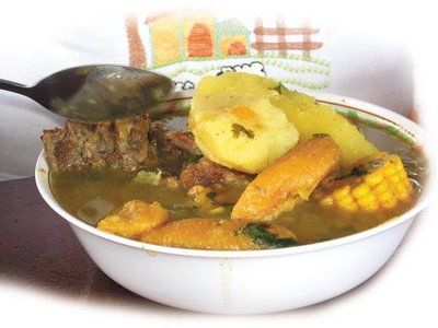 Sancocho, the most typically Panamanian dish there is! Usually complete with chicken or beef, yucca or plantain, corn on the cob and rice. A popular dish with locals for soaking up alcohol!