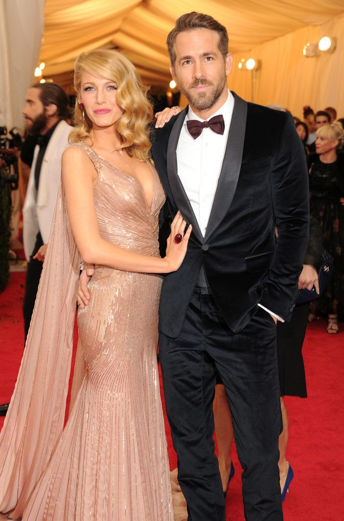 Blake Lively and Ryan Reynolds at MET Gala 2014