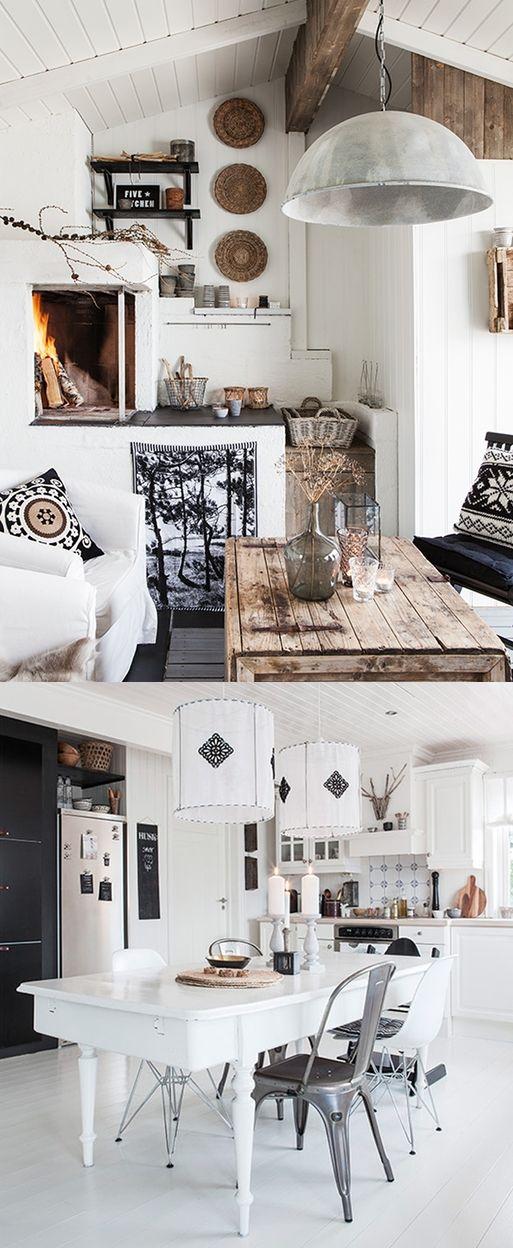 Scandinvisch wonen in zwart wit | villa d'Esta | interieur en wonen