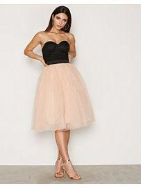 Bustier Tutu Midi Dress - Rare London - Black/Pink - Festkjoler - Klær - Kvinne - Nelly.com