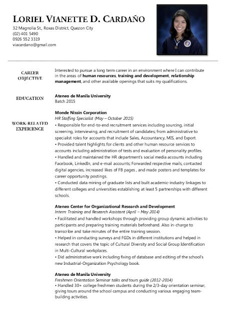 210 best Sample Resumes images on Pinterest Sample resume - example of resume format for student