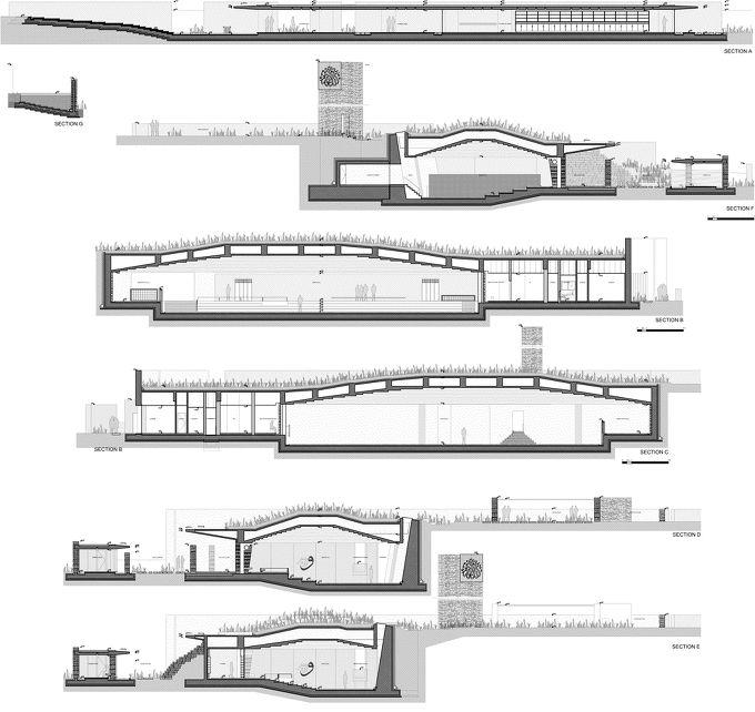 *자연과의 동화, 터키 모스크 사원 [ Emre Arolat Architects ] Terraced landscaping surrounds concrete and stone structure of Mosque :: 5osA: [오사]