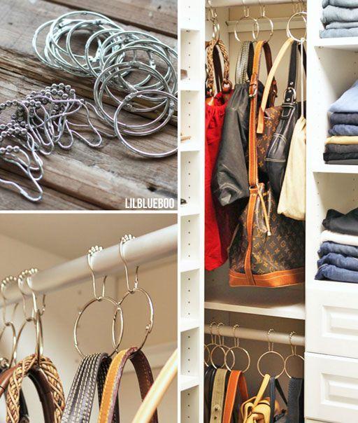 como organizar carteras y bolsos