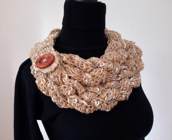 Ganchillo bufanda capucha capucha de las mujeres Neckwarmer