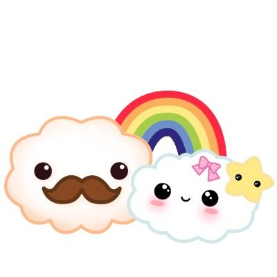 kawaii_mustache_cloud_couple_with_rainbow_and_star_photosculpture-p153072826110160797bfmv3_400.jpg 400×400 pixels