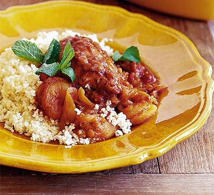 Lesley Waters' rich chicken dish has vibrant North African flavours and goes fantastically with rice or couscous