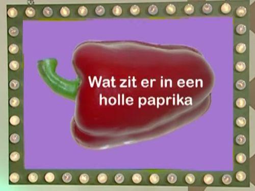 Wat zit er in de holte van een paprika? (Filmpje)