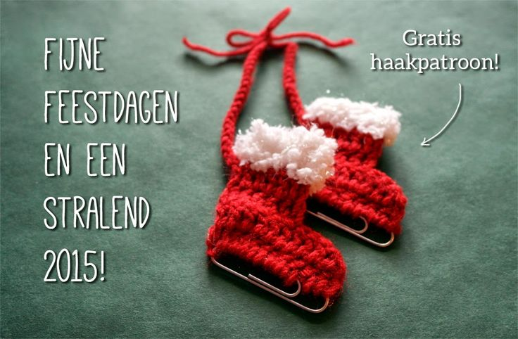 schaatsjes haken http://dehaakbrigade.blogspot.nl/2014/12/gratis-haakpatroon-schaatsjes.html