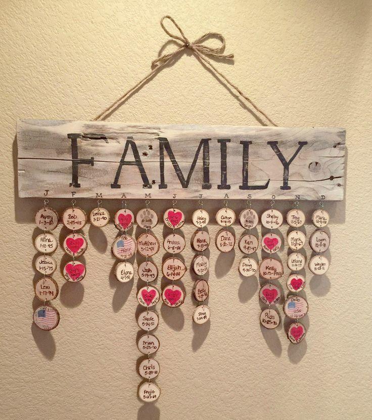 Rustic Family Birthday Plaque   – Selber Machen