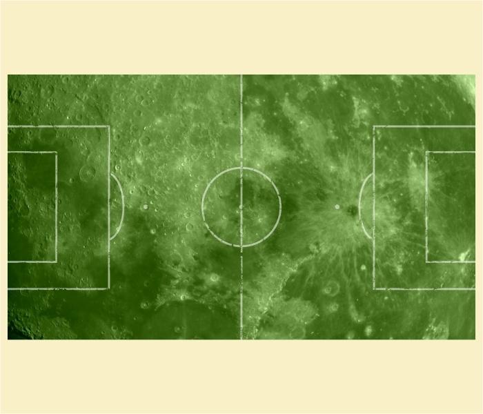 """Kickertisch Zubehör / Kicker Zubehör / Tischfußball Zubehör - Spielfeldfolie Motiv """"Mond"""""""