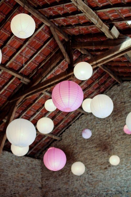 mariage champêtre lampion wedding