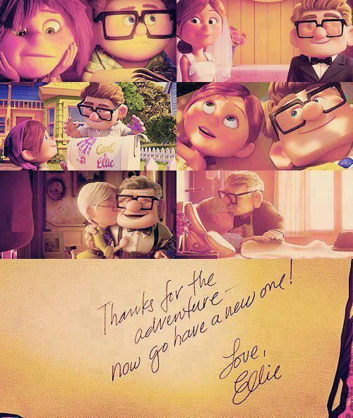 "Thanks for the adventure- now go have a new one! ""Up"" has the best message about grief/loss for people of all ages"