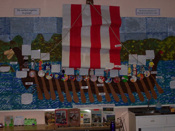 Viking Longboat classroom display photo - Photo gallery - SparkleBox