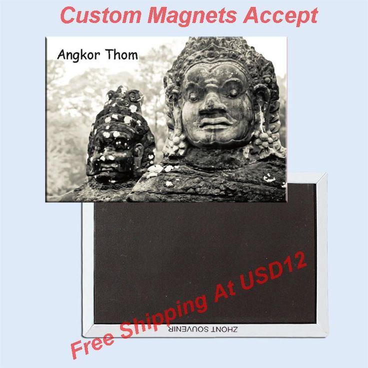 Прямоугольник Жесткой Магниты 78*54 мм Магниты фото 20150 Камбоджа Ангкор-Тхом Туристические Сувениры Подарок