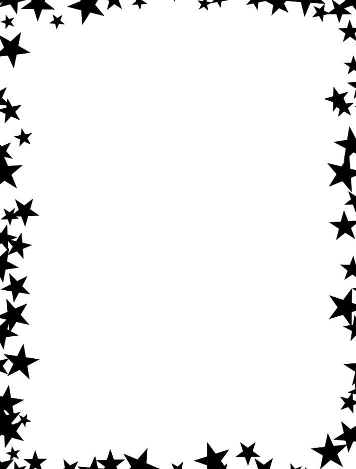 Black Scattered Stars Border Free Borders And Clip Art Star Designs Beautiful Clip Art