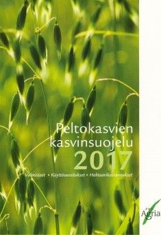 Kuvaus: Peltokasvien kasvinsuojelu 2017 -kirjassa esitetään viljelykasveittain peltokasvien, avomaan vihannesten ja mansikan rikkakasvien, kasvitautien ja tuholaisten torjuntaan vuonna 2017 kaikki markkinoilla olevat kasvinsuojeluaineet, niiden käyttösuositukset ja keskimääräiset ainekustannukset hehtaaria kohti. Lisäksi annetaan ohjeita mm. rikkakasvien, kasvitautien ja tuholaisten oikeista torjunta-ajoista viljelykasvin kehitysvaiheen mukaan sekä tautien ja tuholaisten torjunnan…