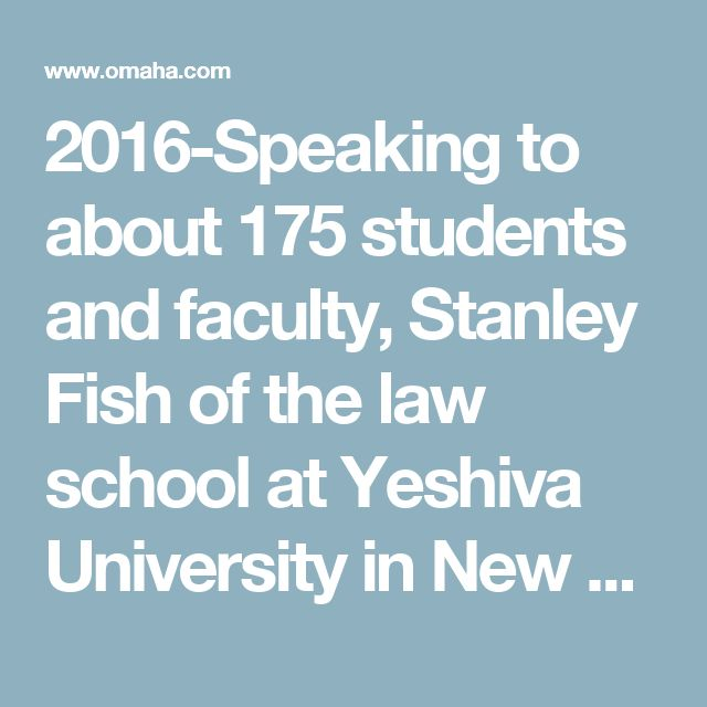 "2016-Speaking to about 175 students and faculty, Stanley Fish of the law school at Yeshiva University in New York said college administrators who have earned their roles and who lead effectively shouldn't buckle to student demands to fire or hire certain professors or reorganize departments. In an era where some students want ""safe spaces,"" free of unappealing viewpoints, and ""trigger warnings"" in which professors inform classes that something unappealing might be discussed, Fish offered…"