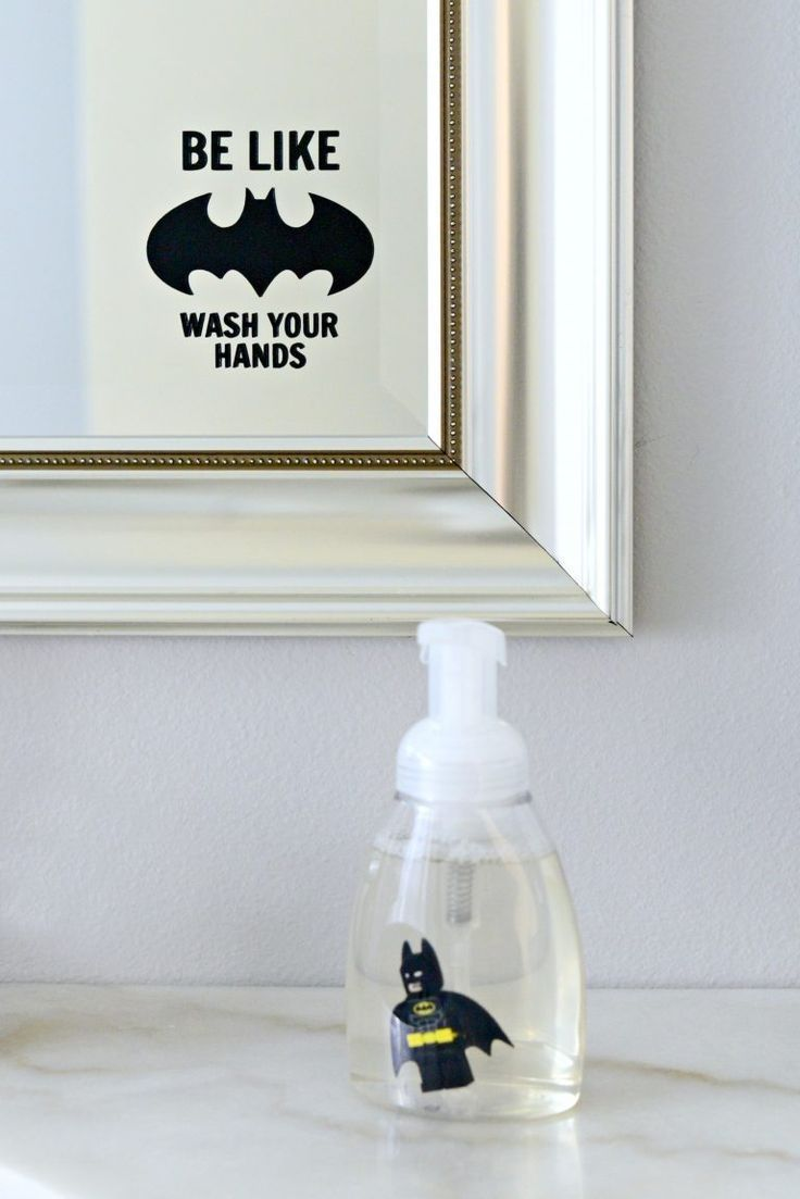 Totally Making This How Cute For A Batman Lover Diy Lego Batman Soap Lego Batman Diy Batman Soap Be Like B Batman Decor Batman Bathroom Lego Batman Lego batman bathroom decor
