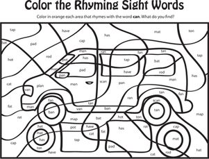 kindergarten reading writing worksheets learning rhyming words can