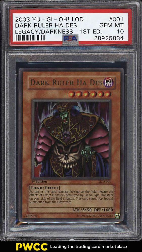2003 Yu-Gi-Oh! Legacy Of Darkness 1st Ed Dark Ruler Ha Des