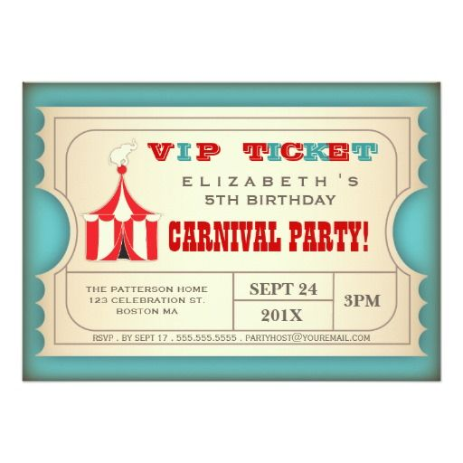 207 best carnival birthday gifts images on Pinterest Birthday - best of birthday invitation card write up