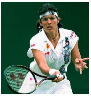 Gigi Fernandez- 17 grand slam double championships. 2 Gold Medals for Puerto Rico. Saw her play in Newport
