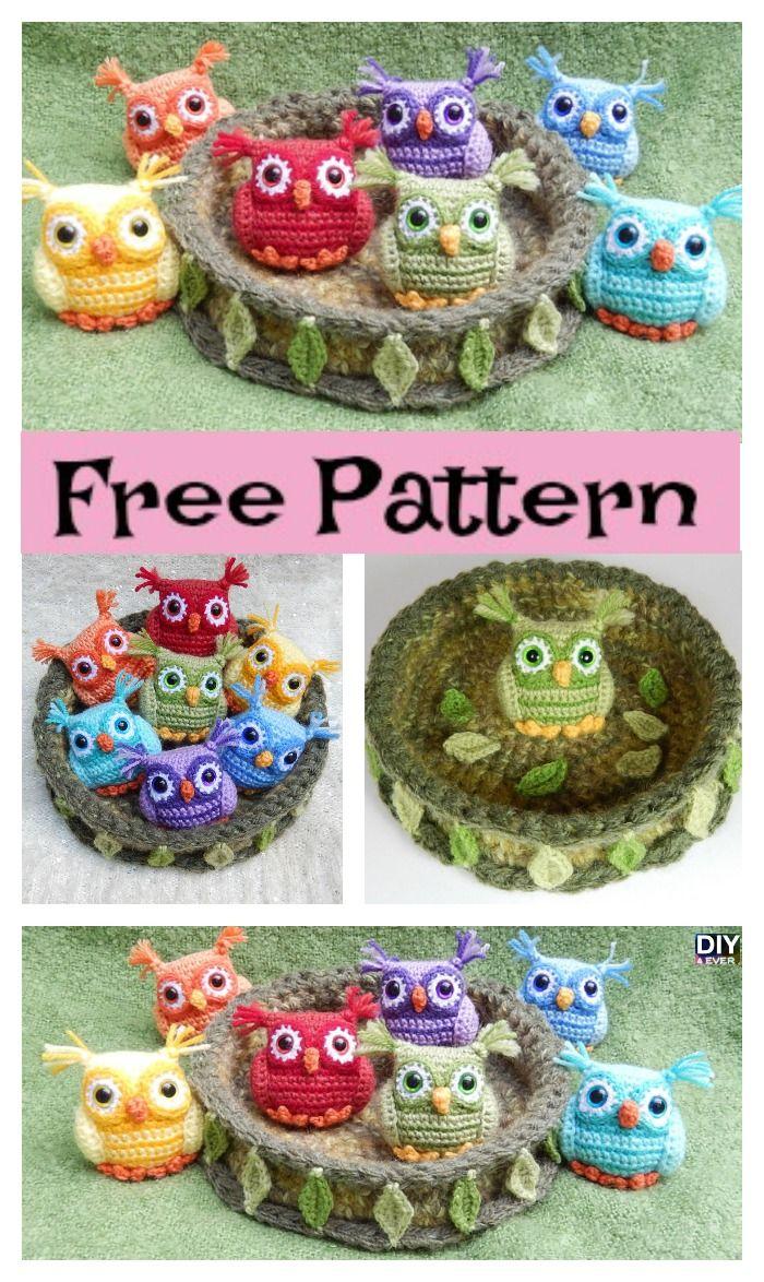 Crochet Nesting Rainbow Owls – Free Pattern#freepattern