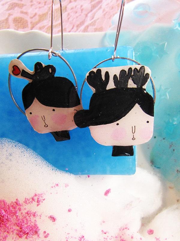 Watering & Cactus - earrings
