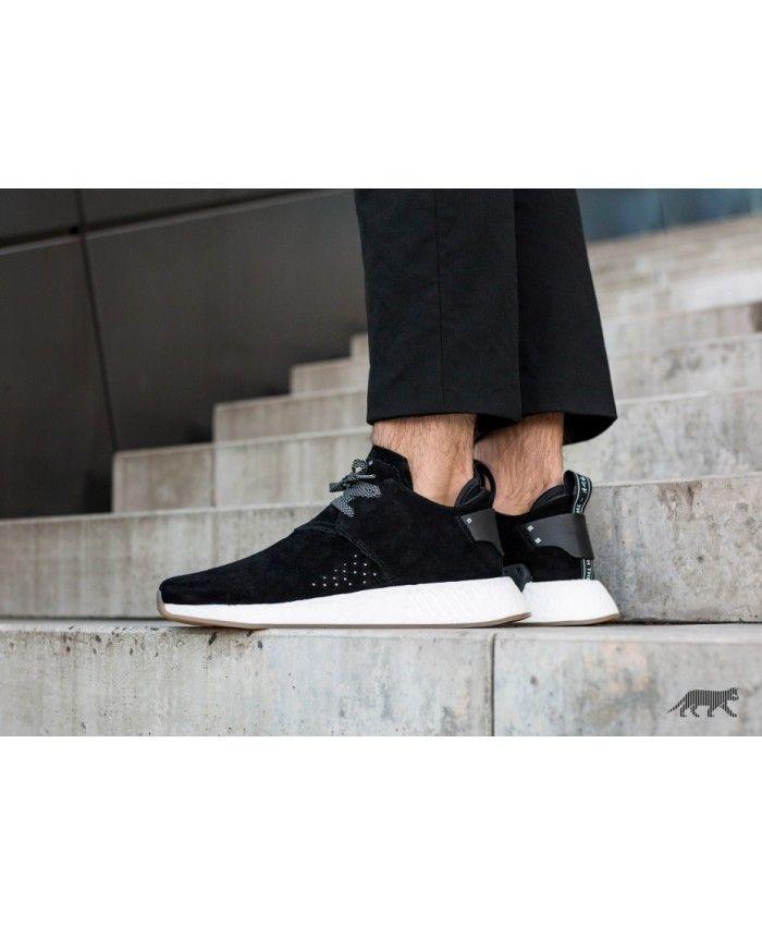 Adidas Australia Nmd C2 Suede Core Black Core Black Gum Trainers ... 669fff140