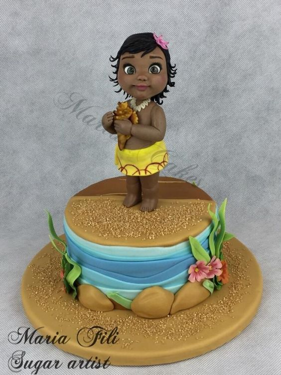 WHAT AN ADORABLE MOANA CAKE