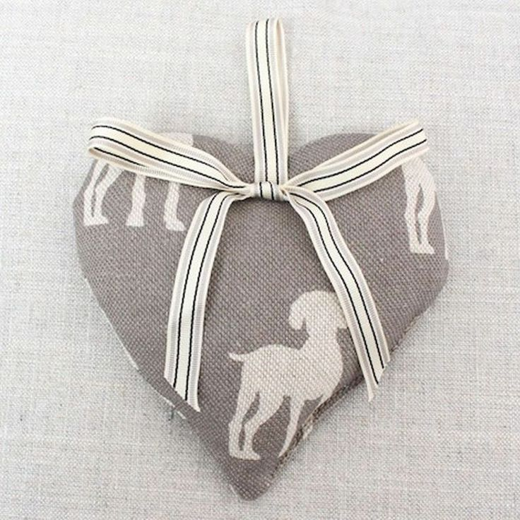 Elephant Paws Lavender Filed Heart