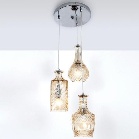 3 glass decanter cluster ceiling light fitting dunelm. Black Bedroom Furniture Sets. Home Design Ideas