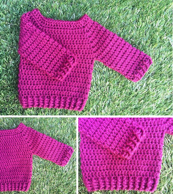 'Minimalist' Crochet Baby Jumper now available @ nannakates.com