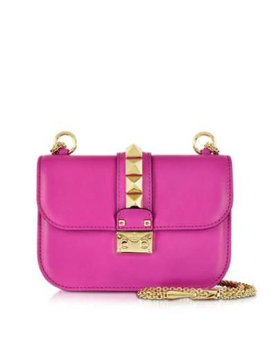 valentino garavani fuxia leather shoulder bag #shoulderbag #valentino #designer #leather #handbag #covetme