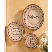 Country Primitive Decorative Wall Plates......Dollar tree plates and sharpie?????