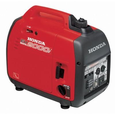 Honda 2,000-Watt Super Quiet Gasoline Powered Portable Inverter Generator with Eco-Throttle and Oil Alert-EU2000T1A1 - The Home Depot