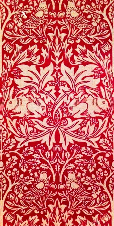 williamsburg ii red wallpaper brother rabbit william morris 1882 - Wall Paper Designers