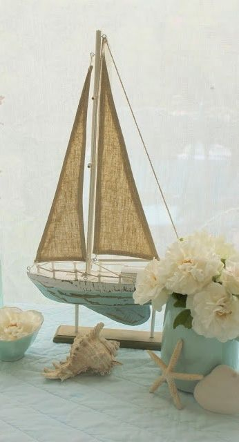 Model sailboat decor