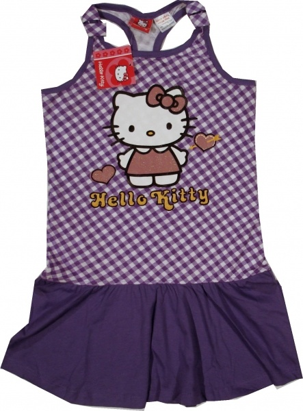 Haine Copii - Rochita oficiala Hello Kitty, 100% bumbac.
