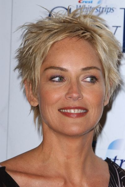 Very Short Hairstyles Over 50 | 2004 Crest Whitestrips Style Awards - 124 - Sharon Stone Photo Gallery
