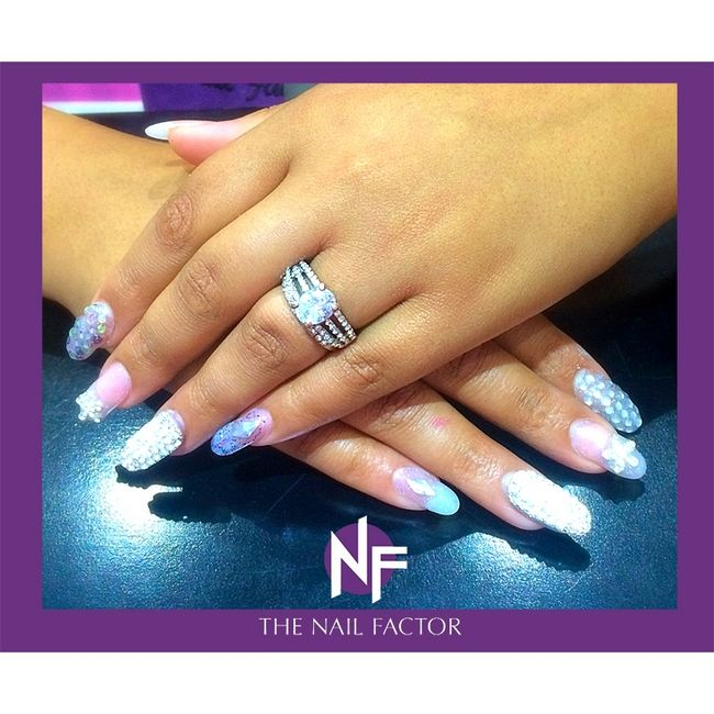 A blinged out manicure from The Nail Factor Pavilion! #NailFactorMoments #gelpolish  #nails #cool #nail #gelart #gelnails #nailart #instanails #gel  #nailgasm  #todaysnails  #manicure  #nailswag #nailpolish #bling