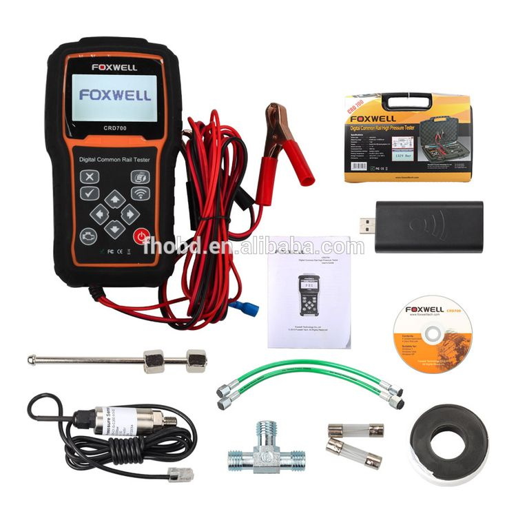Auto Diagnostic Scanner Checks High Pressure Pump of Common Rail Systems Foxwell CRD700 Digital Pressure Tester