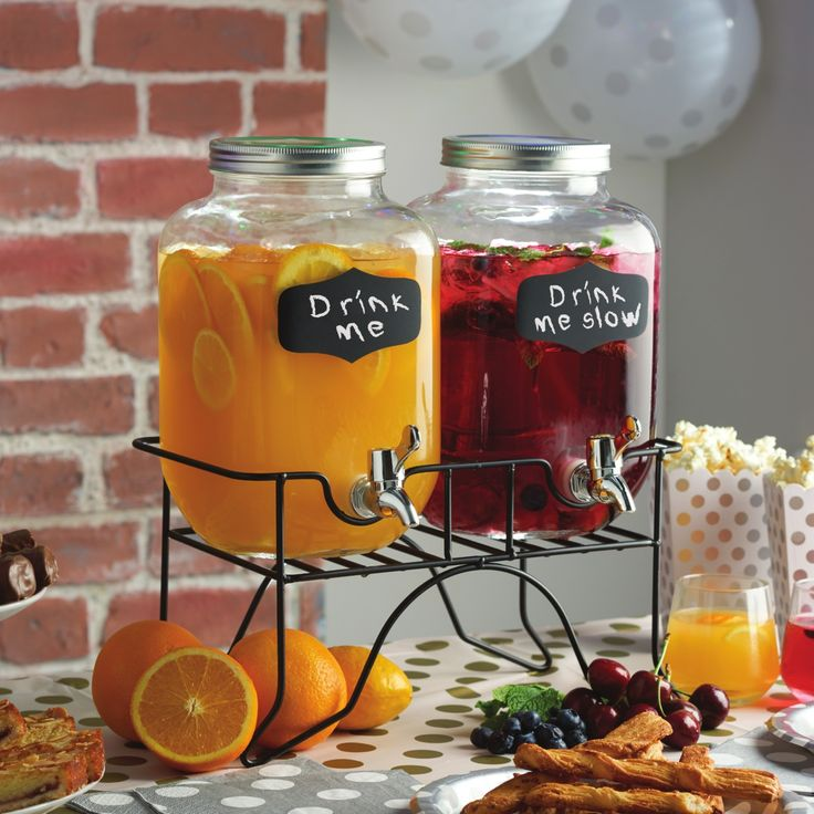 Twin Drinks Dispenser with Stand