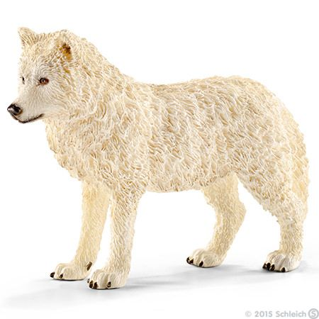 Arctic Wolf (Canis lupus arctos) - Schleich, 2015.  Approximate Scale 1:13 - 1:16