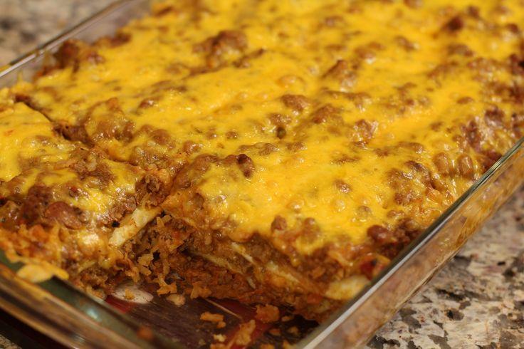 Burrito Pie - Delicious Casserole Mexican Style by Rockin Robin