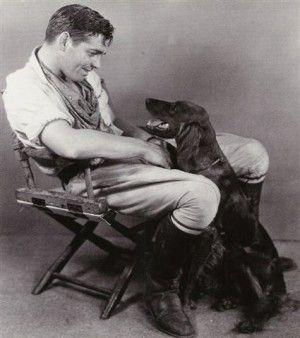Clark Gable & his Irish setter