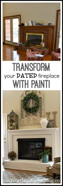 Transform Your Dated Fireplace With Paint!